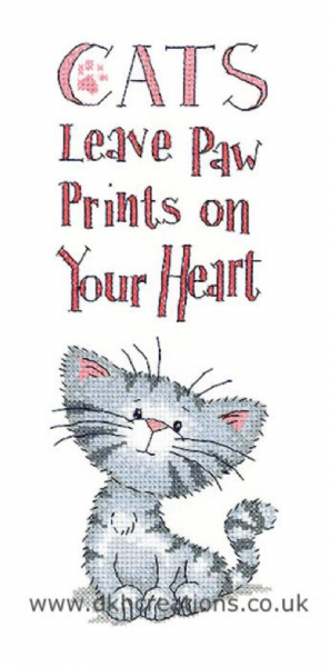 Cat's Paw Prints Cross Stitch Kit